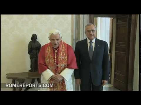 Benedict XVI recalls recent trip to Lebanon during Vatican meeting with president
