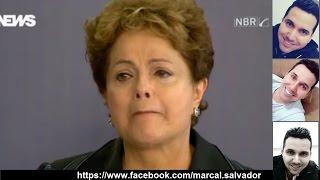 Dilma cantando ♫ Estou indo embora ♫ kkkk