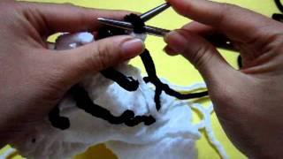 getlinkyoutube.com-Cách đan khăn ca-rô 2 màu phần 1