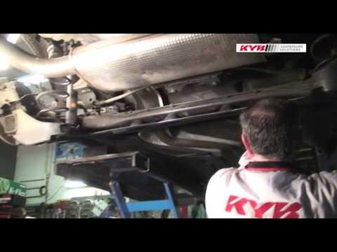 Renault Laguna III - REAR - Задние амортизаторы KYB установка