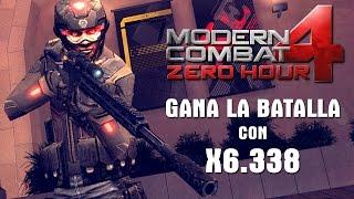 getlinkyoutube.com-Gana la batalla con Sniper X6.338 Modern Combat 4