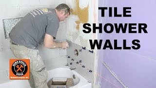 getlinkyoutube.com-How to Tile a Shower Wall...the Mixing Valve Wall -- by Home Repair Tutor