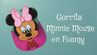 getlinkyoutube.com-DIY Minnie Mouse Gorra en Foami, Goma Eva, Microporoso (3ra Parte) Easy Crafts