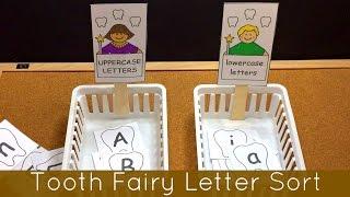 getlinkyoutube.com-Tooth Fairy Letter Sorting Center For Preschool and Kindergarten