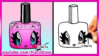 getlinkyoutube.com-How to Draw Easy Cartoons - Nail Polish Tutorial Cute + Stylish Fun2draw Kawaii