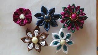getlinkyoutube.com-TUTORIAL- KANZASHI di raso con petali particolari