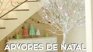 getlinkyoutube.com-ESPECIAL NATAL #2: DIY árvores de natal - Paula Stephânia