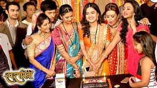 getlinkyoutube.com-Swaragini Last Day CAKE CUTTING | CELEBRATION On Set