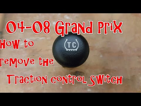 04-08 Pontiac Grand Prix - How to remove the Traction Control switch