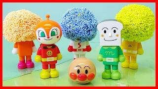 getlinkyoutube.com-アンパンマン アニメおもちゃ パチッと変身アンパンマン 顔と体がバラバラで全部プレイフォームになっちゃった?!もとにもどせるかな?  Anpanman Toy Play Foam