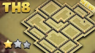 getlinkyoutube.com-Town Hall 8 (TH8) NEW BEST WAR BASE AnTi 3 Star [AnTi First Hit] + Proof Replays 2016
