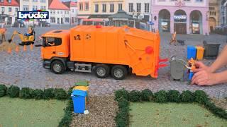 getlinkyoutube.com-Scania Müllabfuhr -- 03560 -- BRUDER Spielwaren