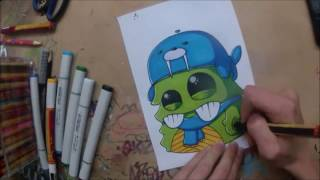 getlinkyoutube.com-How to Draw a Graffiti Cartoon Artist By SLOZ - please check his channel