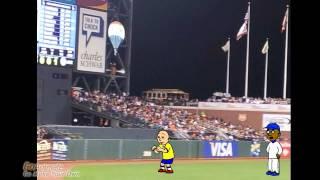 getlinkyoutube.com-Caillou Runs On a Baseball Field and Gets Grounded