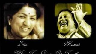 getlinkyoutube.com-Two greats come together Lata and Nusrat