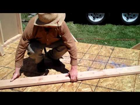How to layout and Build trusses for your gambrel barn or shed free plans