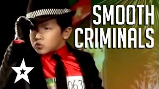 getlinkyoutube.com-Smooth Criminals! 5 Amazing Michael Jackson Tributes | Got Talent Global