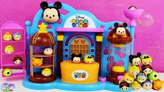 getlinkyoutube.com-Disney Squishy Tsum Tsum Toy Shop Exclusive Play Set ツムツム Mickey Mouse SETC