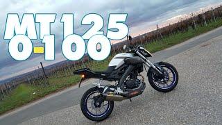 getlinkyoutube.com-[GoPro]MT-125 0-100/60-100 + Top Speed