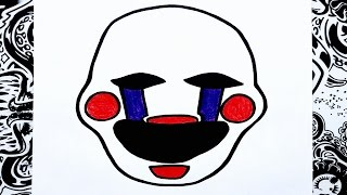 getlinkyoutube.com-Como dibujar a the puppet o la marioneta de five nights at freddy's | how to draw the puppet