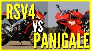 getlinkyoutube.com-Ducati Panigale vs Aprilia RSV4 - Motorevue