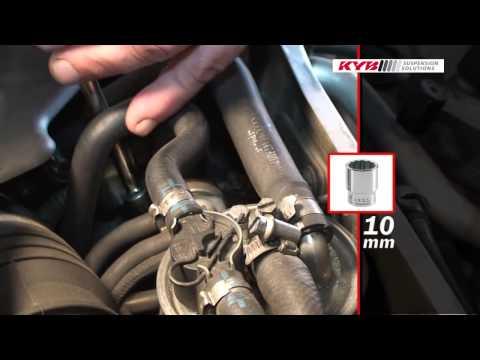 Audi A4, Audi A6, VW Passat - FRONT - Передние амортизаторы KYB установка