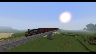 getlinkyoutube.com-Minecraft Trains Mod - Diesel Freight Train