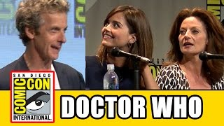 getlinkyoutube.com-Doctor Who Comic Con Panel - Series 9, Peter Capaldi, Jenna Coleman, Michelle Gomez, Steven Moffat