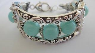 getlinkyoutube.com-Bracelet With Metal Beads.  Браслет из металлических бусин