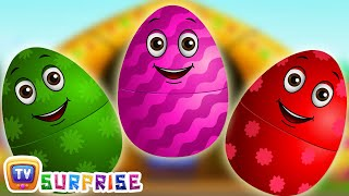 getlinkyoutube.com-Surprise Eggs Nursery Rhymes | Old MacDonald Had A Farm | Learn Colours & Farm Animals | ChuChu TV
