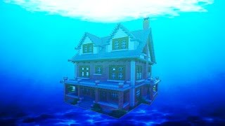 The Ultimate Underwater Redstone Base - (MCPE REDSTONE HOUSE)