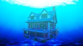 getlinkyoutube.com-The Ultimate Underwater Redstone Base - (MCPE REDSTONE HOUSE)
