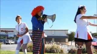 "getlinkyoutube.com-ProZack the Killer Clown: ""Get Your Flu Shot!"" Staring Lee Ann McAdoo as Nurse Death"