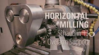 getlinkyoutube.com-Horizontal Milling - Building the Overarm Support