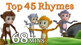 getlinkyoutube.com-Five Little Monkeys Jumping On The Bed Nursery Rhyme - Kids Songs - 3D English Rhymes for Children