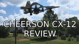 getlinkyoutube.com-Cheerson CX-12 F-22 Fighter Jet Replica Quadcopter Review! (Courtesy GearBest.com)