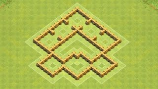 getlinkyoutube.com-Clash of Clans Town Hall 5 Defense BEST CoC TH5 Trophy Base Layout Defense Strategy