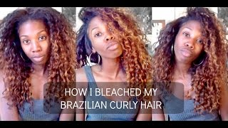 getlinkyoutube.com-How I Bleach & Ombre My Extensions - Brazilian Curly Modern Show Hair