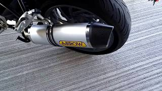 BMW R1200R with Arrow Exhaust