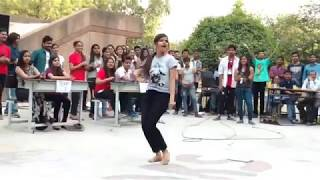 Super Dance by College Girl during Freshers On Baby Doll