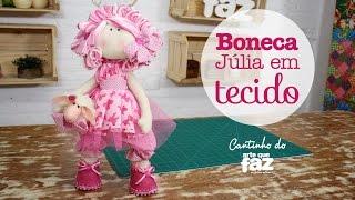 getlinkyoutube.com-DIY - Artesanato Boneca Júlia em tecido - Por Jô Cruz