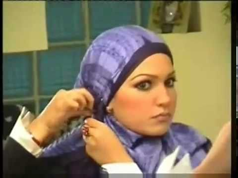 How to wear hijab tutorial by Nanees Selim - 1