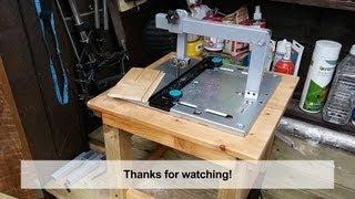 getlinkyoutube.com-Home Made DIY Jigsaw Table with Blade Guide