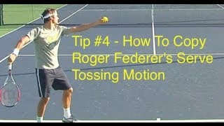 getlinkyoutube.com-Roger Federer Serve Tossing Motion - Tip #4