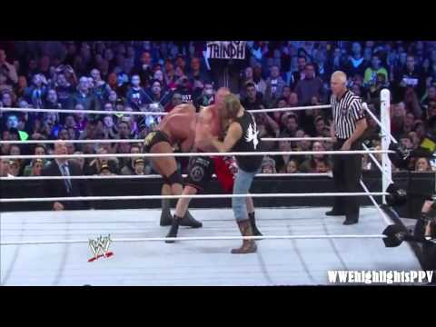 WWE Wrestlemania 29 Brock Lesnar vs. Triple H Highlights HD