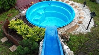 getlinkyoutube.com-How to make a water slide for less than $100 (please read film description & see new footage)