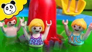 getlinkyoutube.com-Bob der Bademeister - Schleim im Playmobil Schwimmbad - Playmobil Film