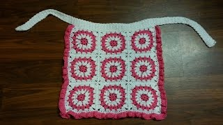 getlinkyoutube.com-CROCHET How to #Crochet Cute and Easy Granny Square Apron #TUTORIAL #116 LEARN CROCHET