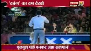 getlinkyoutube.com-Salman Khan With His Dogs On India's Got Talent Dabbang Promotion Chulbul Pandey