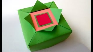 getlinkyoutube.com-Easy Origami gift box.  Great ideas for gift wrapping. Gift for Valentine's day